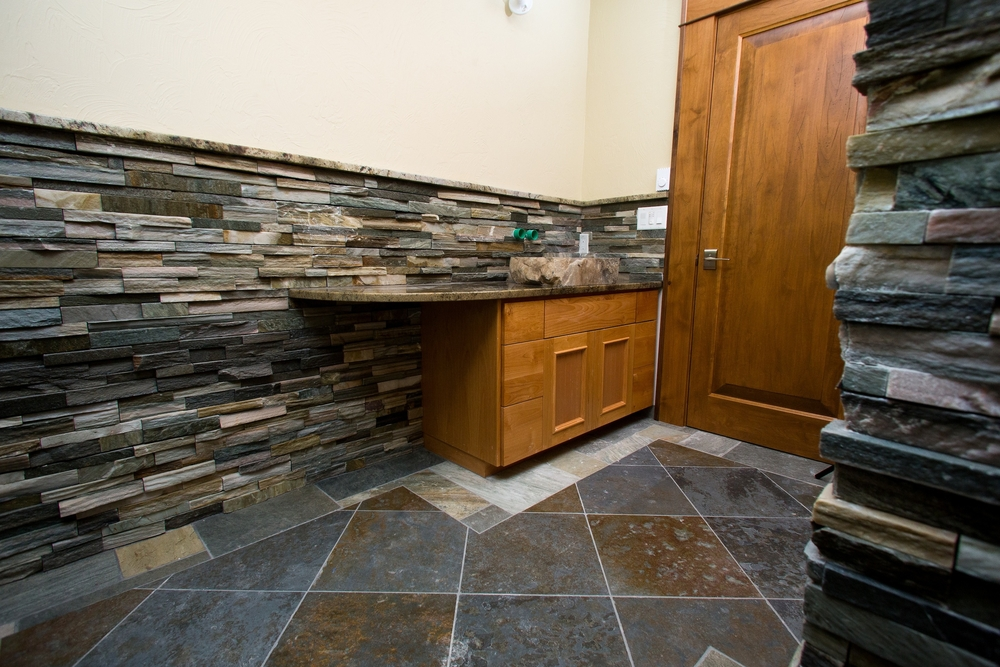 Tile flooring and walls