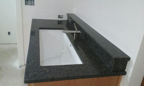 Image Bathroom Vanity in Meteorite Quartz