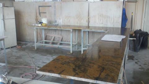 Image Laying out granite