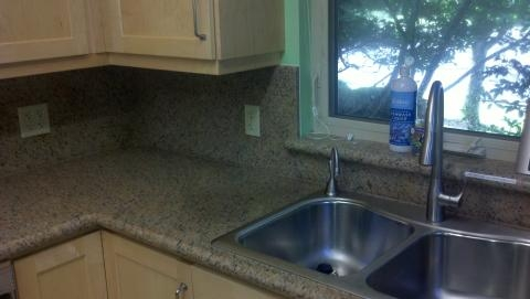 Image Full Height Granite Backsplash