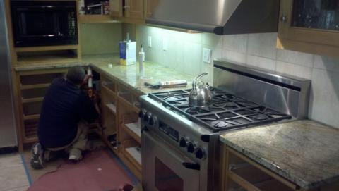 Image Granite slab kitchen